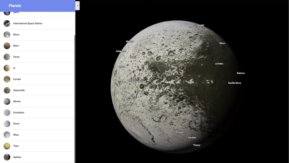 ВGoogle Maps сейчас можно посетить планеты Солнечной системы