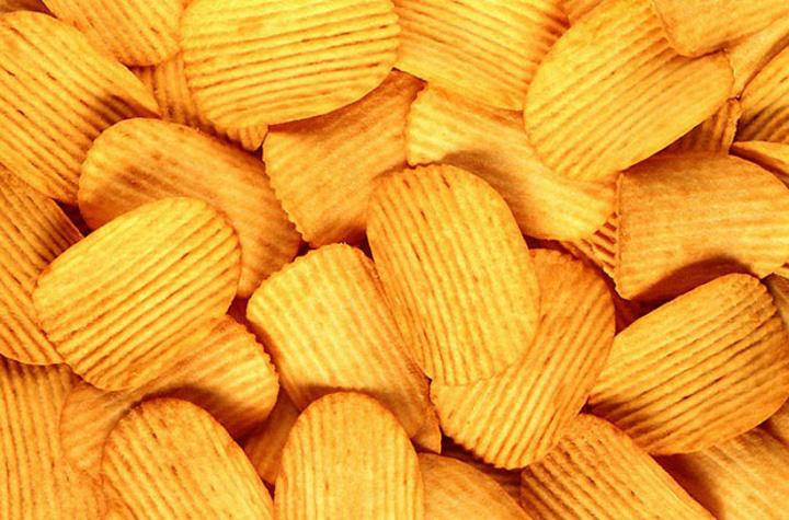 Рефленные картофельные чипсы