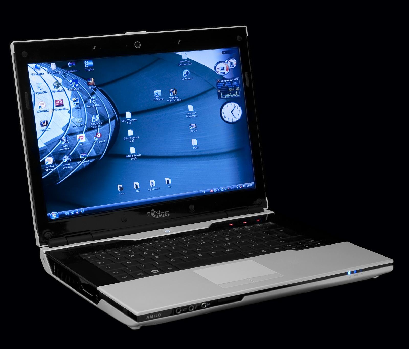 Основной вид ноутбука