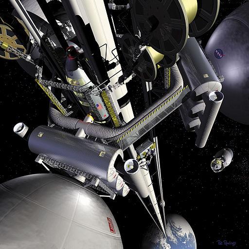 Космический лифт в фантазии NASA