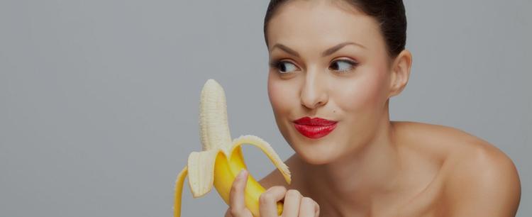 Девушка с бананом фото 336-289
