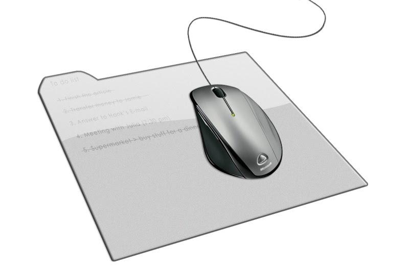 Коврик для мыши на основе электронной бумаги