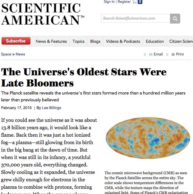 Невидимы ли первые звёзды Вселенной?