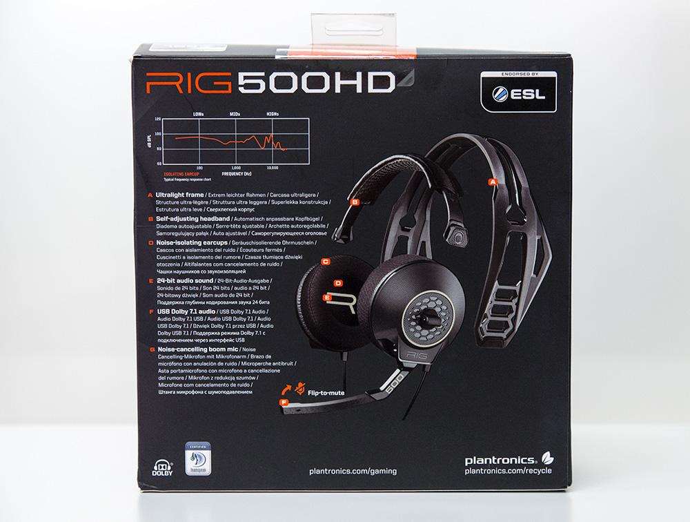 Гарнитура Plantronics RIG 400HS Black 206808-05
