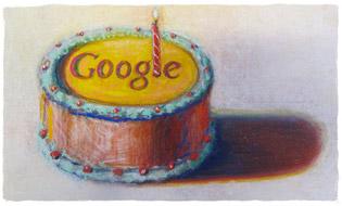 «С 12-летием тебя, Google!», Уэйн Тибо. Используется с разрешения VAGA NY