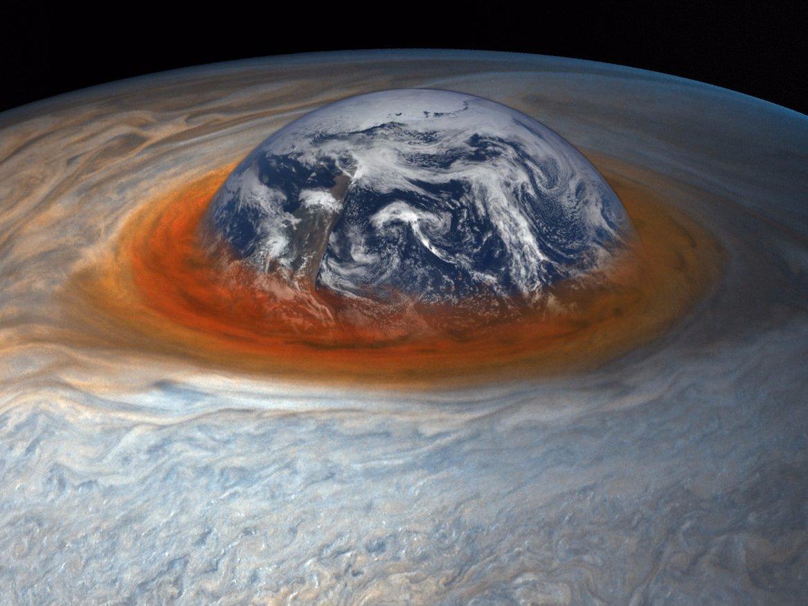 Большое Красное Пятно Юпитера меняется и уменьшается в размерах