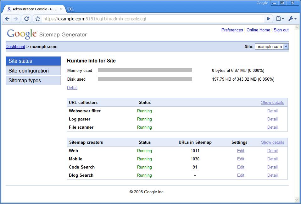Google Sitemap Generator / Geektimes