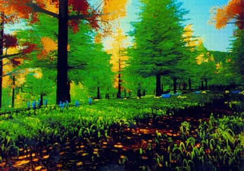 Рисунок 2.4. Картина леса, Ривс, © 1984 Pixar.