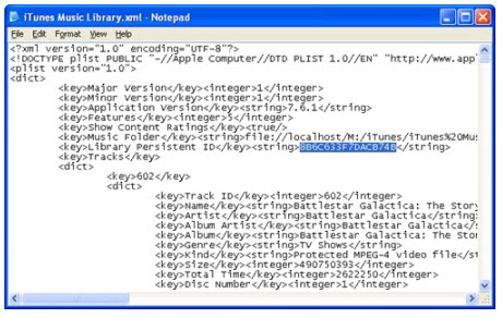 Library Persistent ID