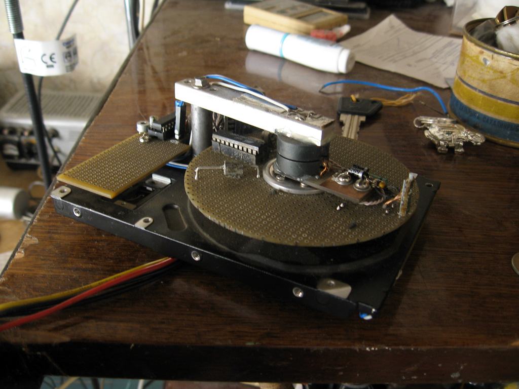 how to run a hard drive motor
