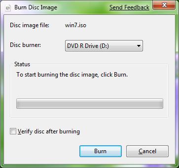 Windows 7. Запись ISO образа