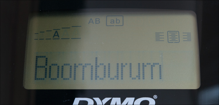 Экран DYMO Label Manager 210D
