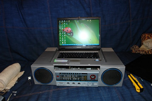 radiola with a laptop