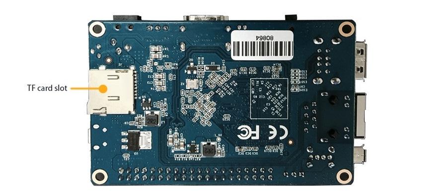 Orange Pi PC Allwinner H3 Botton