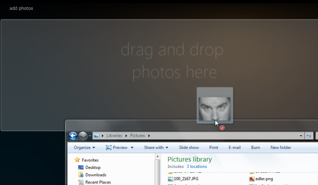Silverlight Client for Facebook - Add photo