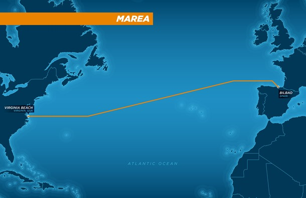 Microsoft и Facebook проложат по дну Атлантики интернет-кабель MAREA