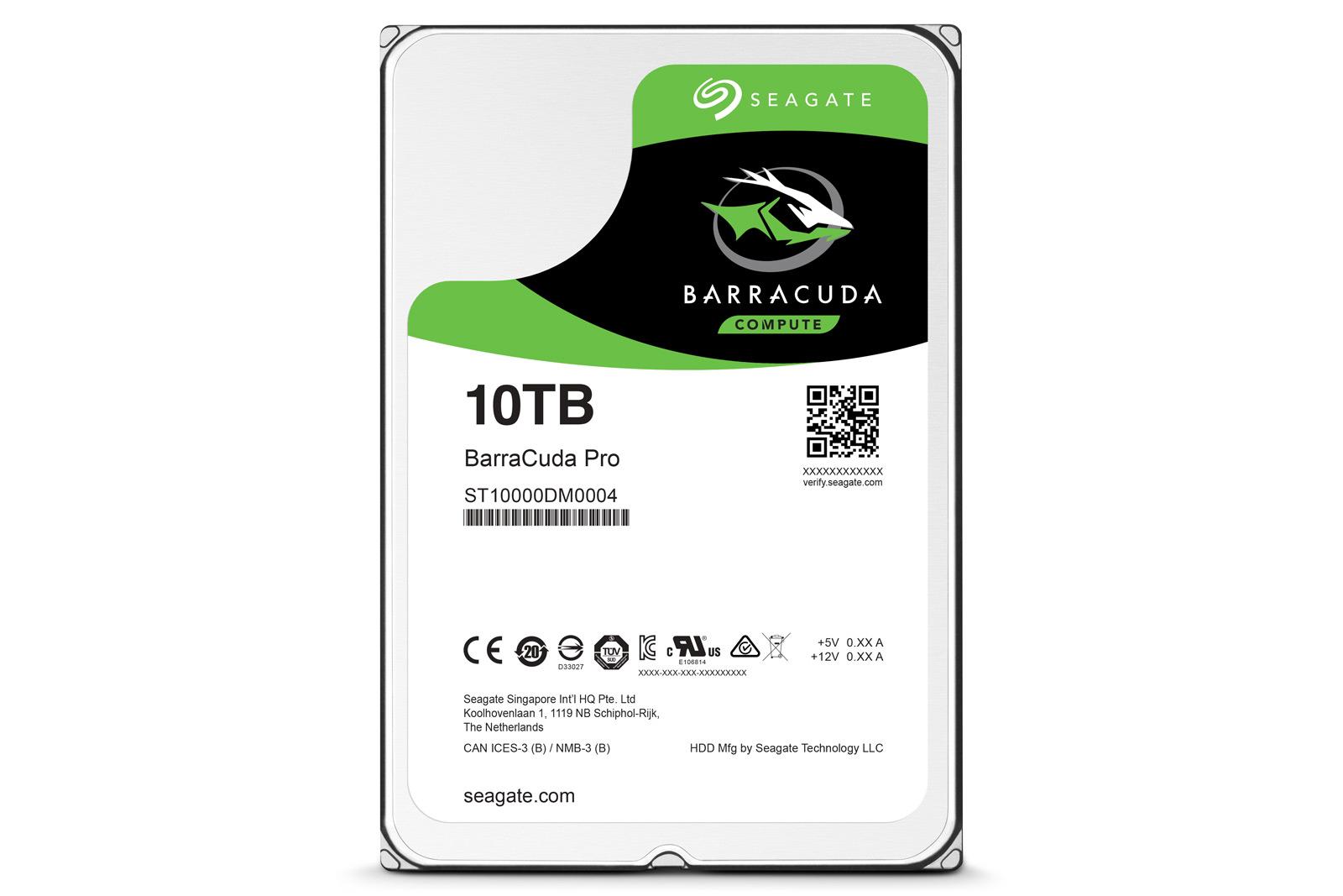 Seagate представила 1-ый  жесткий диск объемом 10 ТБдля домашнихПК