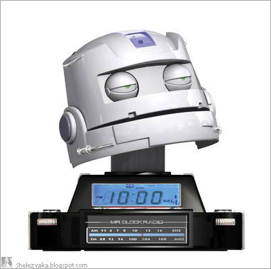 Mr. Clock Radio: радиобудильник-робот