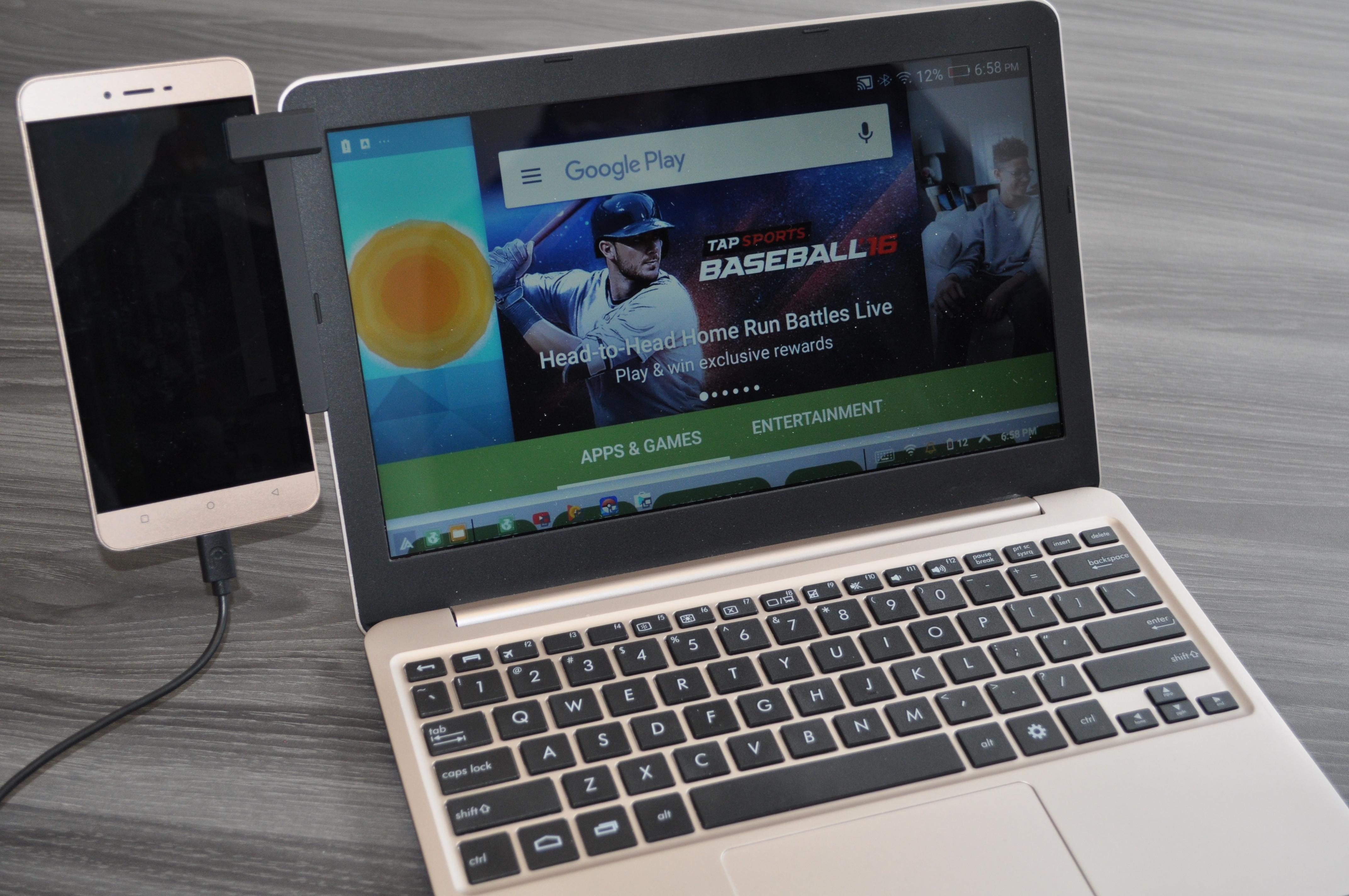 """Superbook — за 99$ превращает ваш смартфон в 11"""" ноутбук"""