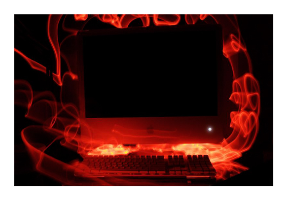 iMac on Fire