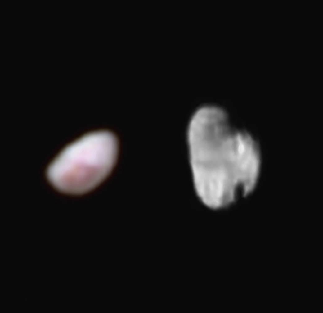 New Horizons прислал качественные фото малых спутников Плутона: Никты и Гидры