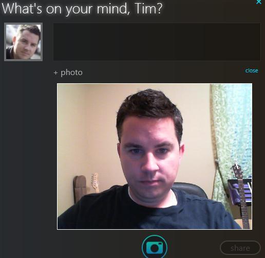 Silverlight Client for Facebook - Webcamera input