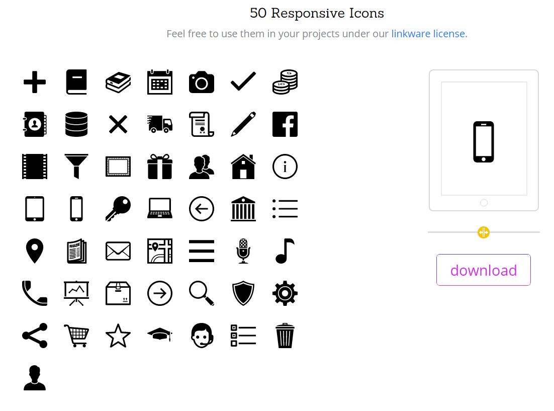 50 Responsive Icons