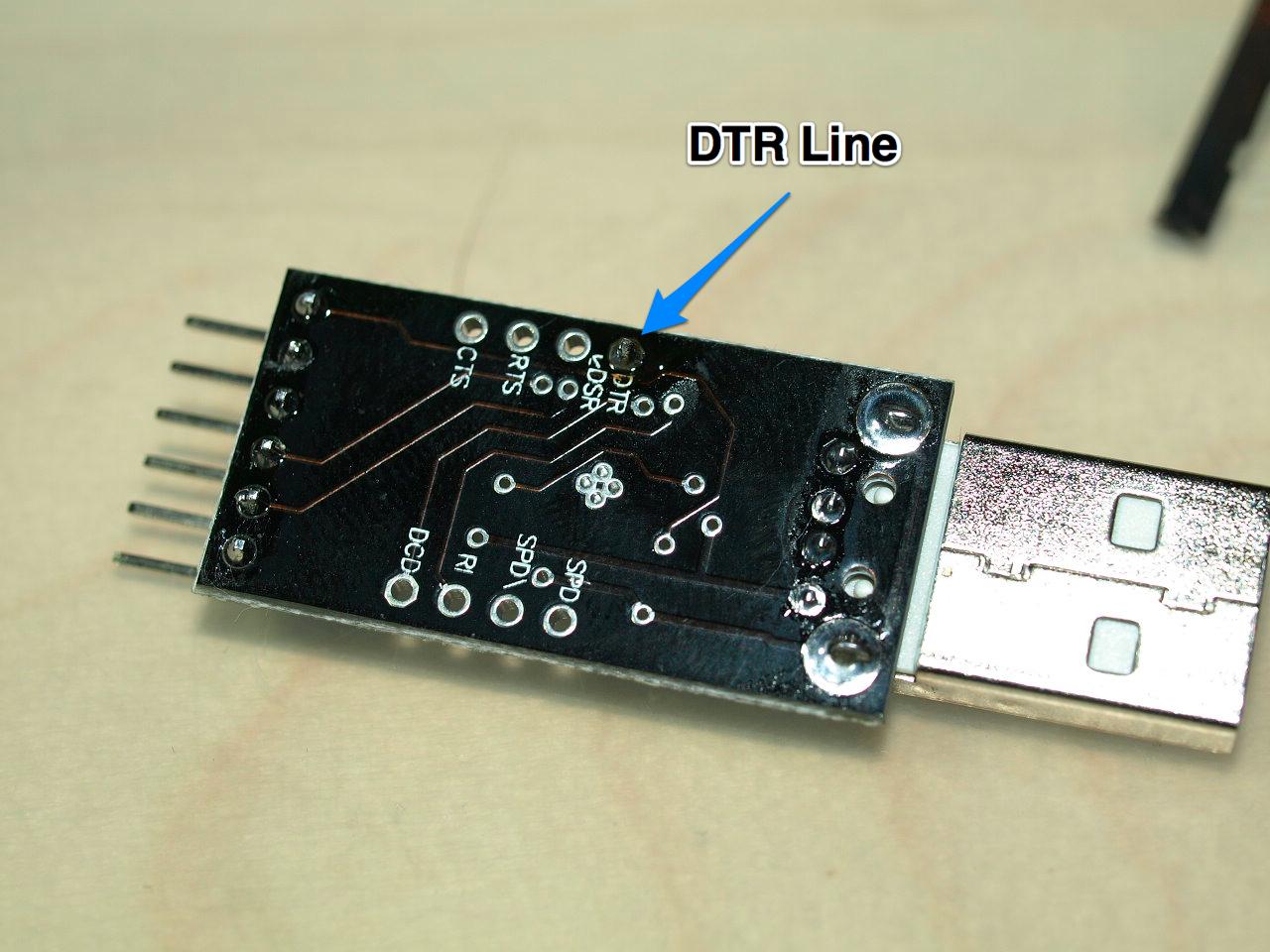 Модифицирование преобразователя USB-UART на чипе CP2102 для