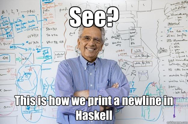[Newline in Haskell]