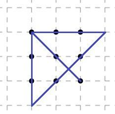 как соединить 9 точек 3 м¤ лини¤ми