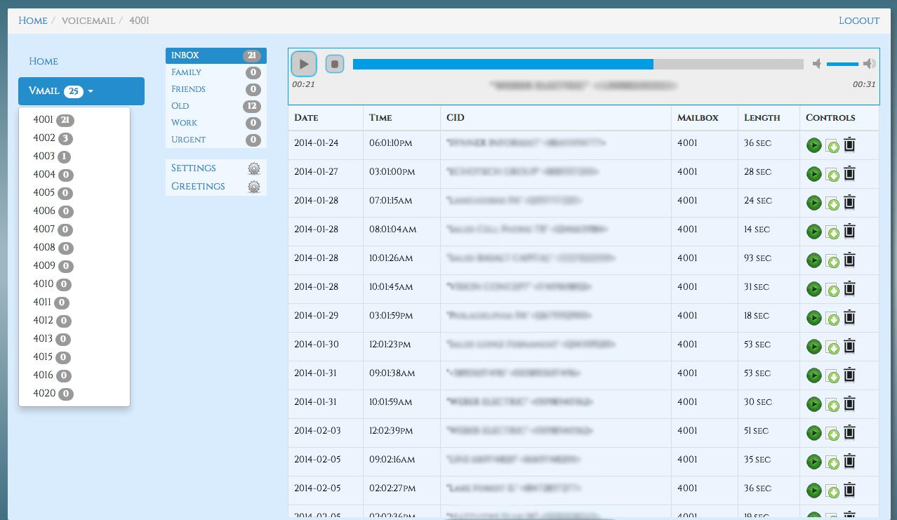 Web интерфейс прослушивания записей звонков Asterisk / Хабр