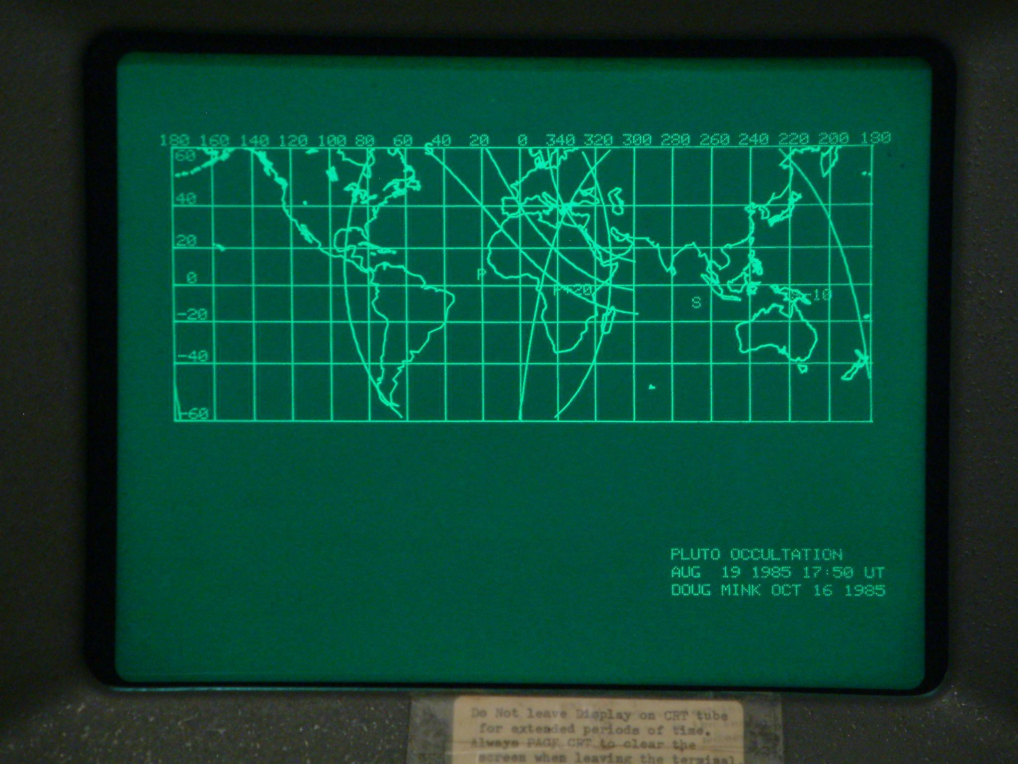 Tektronix 4010 screen