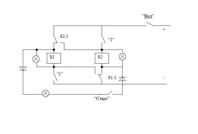 Схема состоит из пары реле