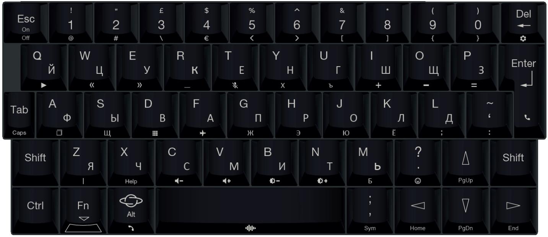 Русская раскладка Gemini PDA