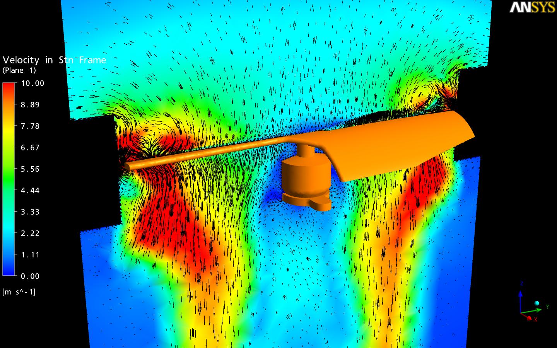 Воздушный поток лопасти