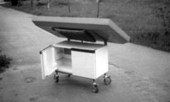 Экспериментальный солнечный адсорбционный холодильник.