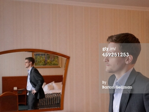 Former intelligence contractor Edward Snowden poses for a photo during an interview in an undisclosed location in December 2013 in Moscow, Russia. Snowden who exposed extensive details of global electronic surveillance by the National Security Agency has been in Moscow since June 2012 after getting temporary asylum in order to evade prosecution by authorities in the U.S. (Photo by Barton Gellman/Getty Images)