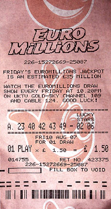 Счастливый лотерейный билет