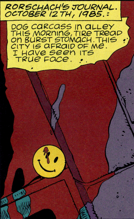 panel from Watchmen citing Rorschach's journal