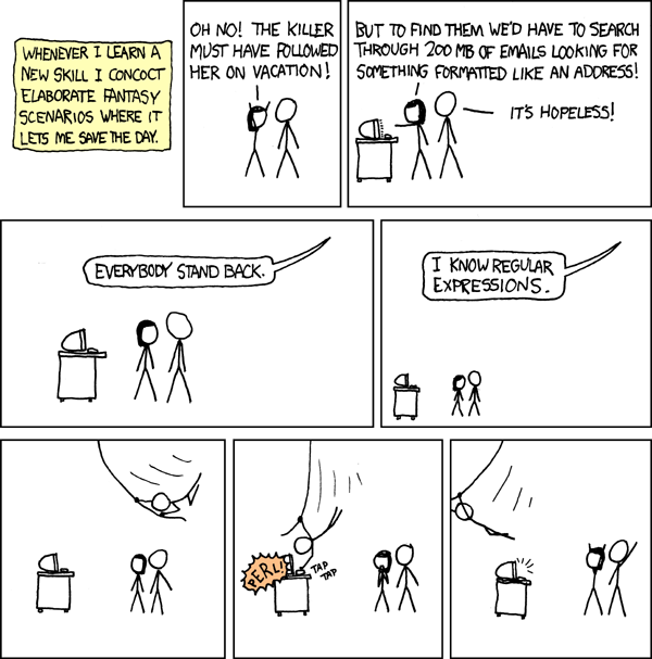 [xkcd: Regular Expressions]