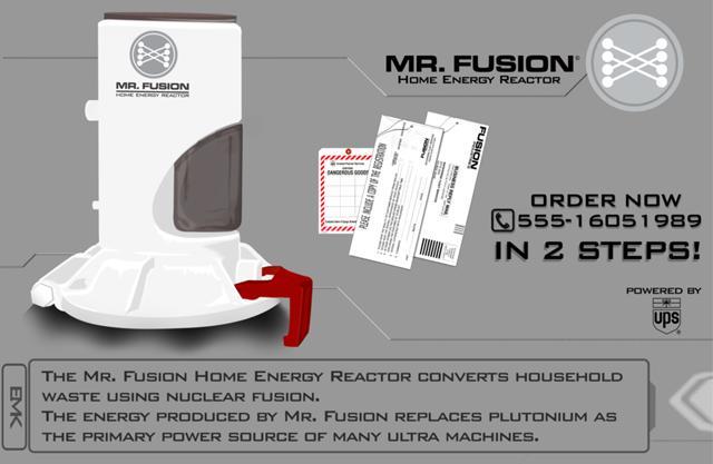 Mr. Fusion — домашний энергетический реактор