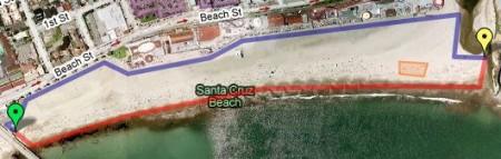 Проект в Санта-Круз на Google Maps