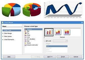 3D charts in OpenOffice 3.0