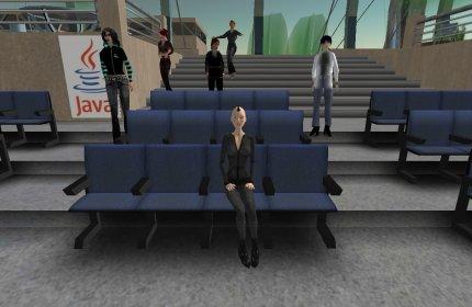 Пресс-конференция Sun в мире Second Life. Журналистов пока немного