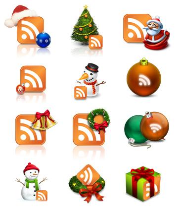 Иконки RSS для блогов.