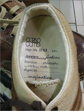 Web 2.0 style shoes