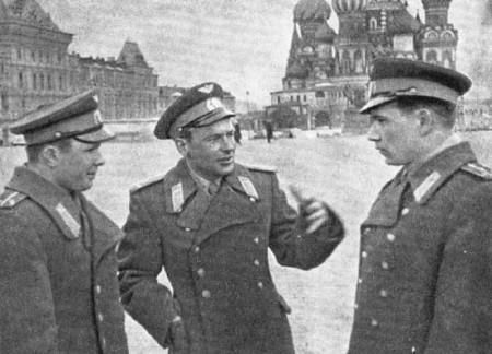Космонавты на Красной площади