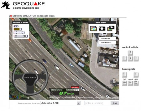 google maps car driver game