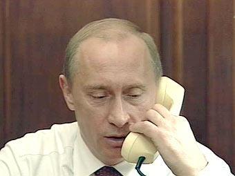 У президента Путина белый телефон