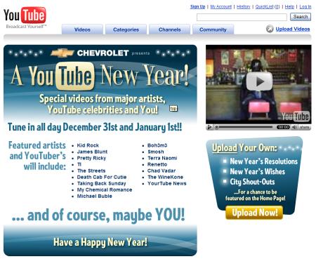 YouTube New Year